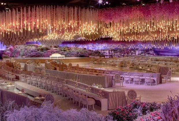 casamento bilionario decoracao 1 - Casamento ostentação: festa de 1 bilhão de dólares tem show de JLo, Sting e Enrique Iglesias