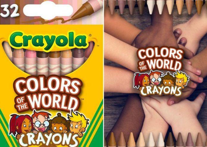 """fdfd - Diversidade e inclusão: Crayola lança giz de cera com 24 cores de pele denominado """"Cores do Mundo"""""""