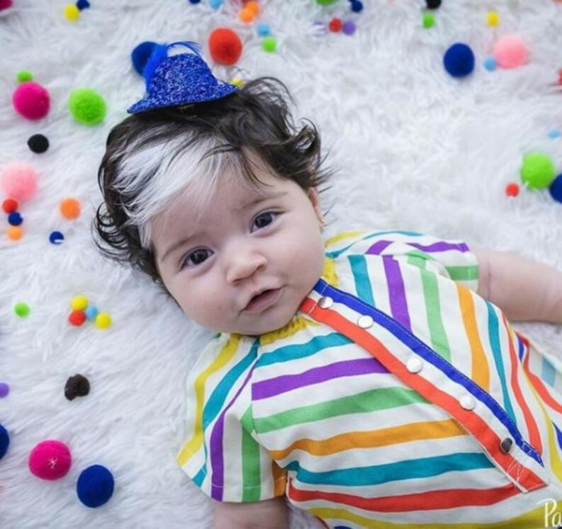 mayah 1400x1320 1119 0 - Bebê nasce com mexa de cabelo branca e encanta com tamanha beleza