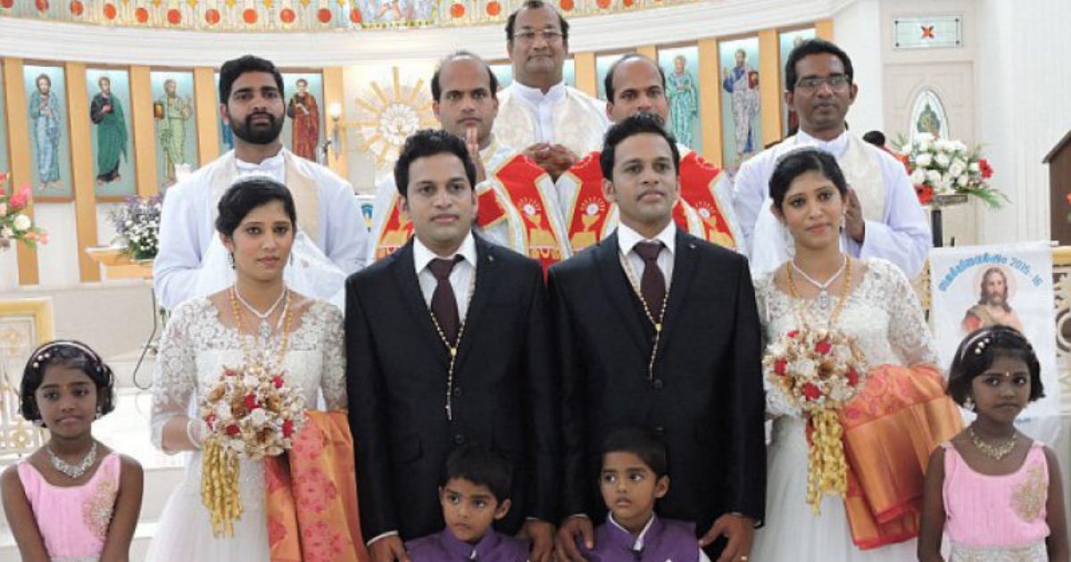 Design sem nome 46 - O incrível casamento ao quadrado : padres gêmeos casam gêmeos com gêmeas na Índia