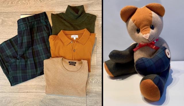 """Memory Bear 4 Mary Mac Facebook - Jovem cria """"ursos memoráveis"""" para pessoas de luto com as roupas de seus entes queridos"""