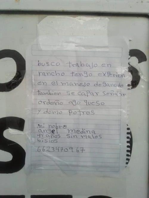 curriculo manuscrito nas ruas3 - Pai humilde consegue encontrar trabalho enchendo a cidade de currículos escritos à mão